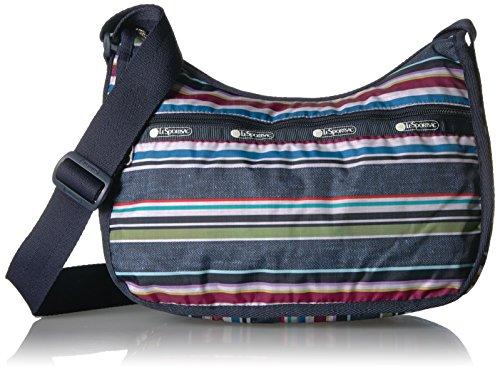 LeSportsac Classic Hobo Handbag, Indigo Stripe
