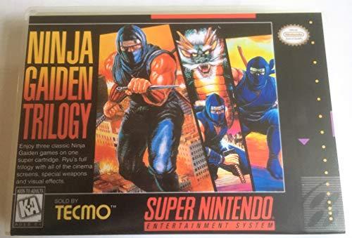 Ninja Gaiden Super Nintendo - Ninja Gaiden Trilogy (Super Nintendo, SNES) - Reproduction Video Game Cartridge with Universal Game Case and Glossy Manual