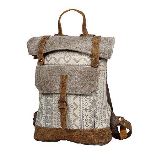 [해외]Myra 가방 고급 가죽 및 업 사이클 캔버스 배낭 S-1237 / Myra Bag Classy Leather & Upcycled Canvas Backpack S-1237