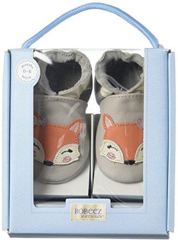 Robeez Foxy Lady - Zapatillas de casa Bebé-Niños Grey (Gris Clair)