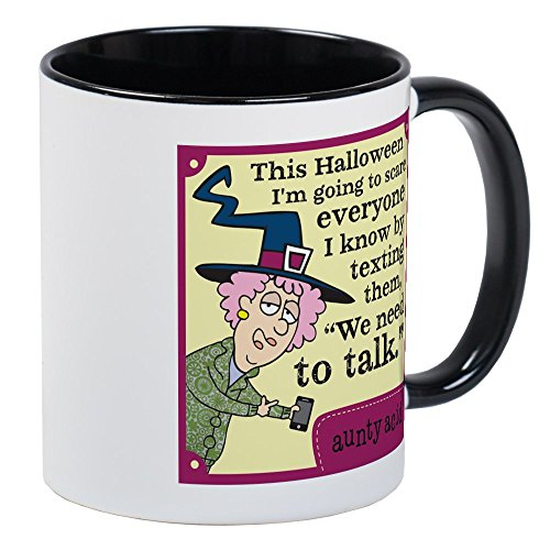 CafePress Aunty Acid: Halloween Text Mug Unique Coffee Mug, Coffee Cup