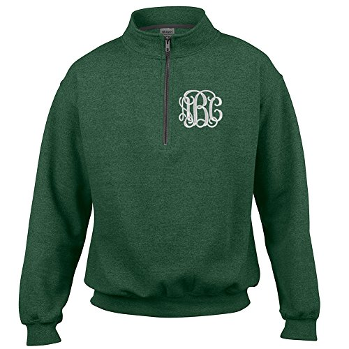 United Monograms Monogrammed Quarter Zip Sweatshirt
