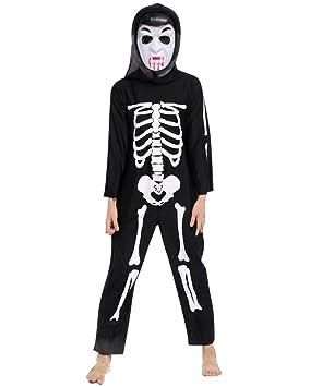 Moollyfox Niños Disfraz Halloween Costume Esqueleto Hueso ...