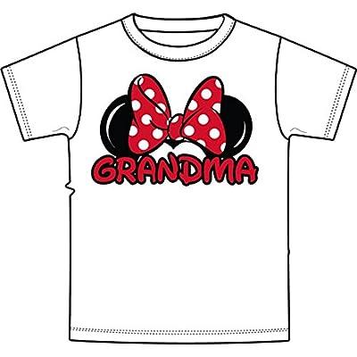 Disney Adult Plus Size Womens T-Shirt Grandma Family Tee White