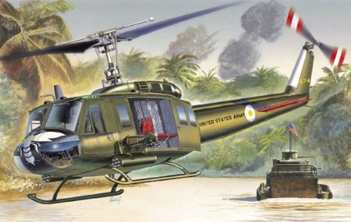 Italeri 1/72 UH-1D Slick Helicopter Kit