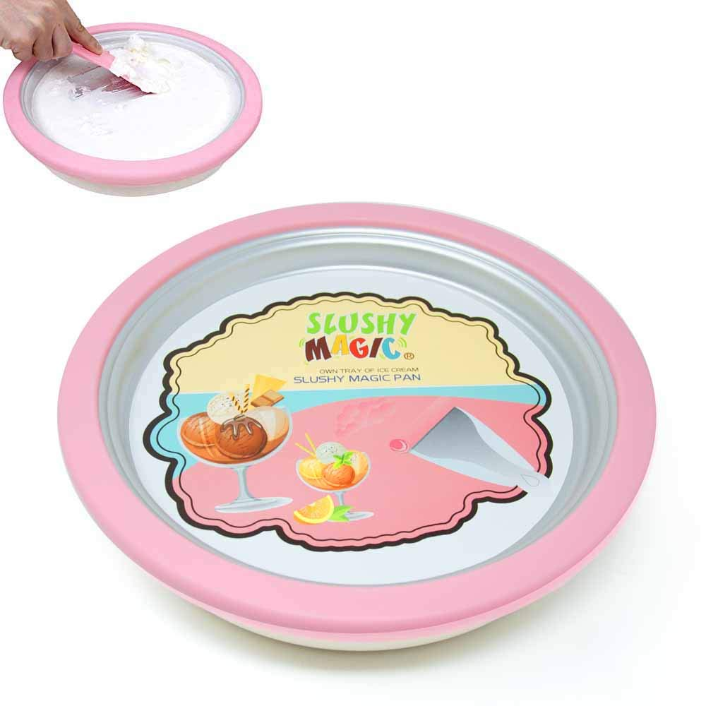 Eutuxia Instant Ice Cream Maker Pan. Enjoy Rolling Ice Cream at Home! Make Handmade Frozen Yogurt, Sorbet & Gelato with Creative Pan. Perfect for Kids. Must-Have Summer Item. [14.2 inches]