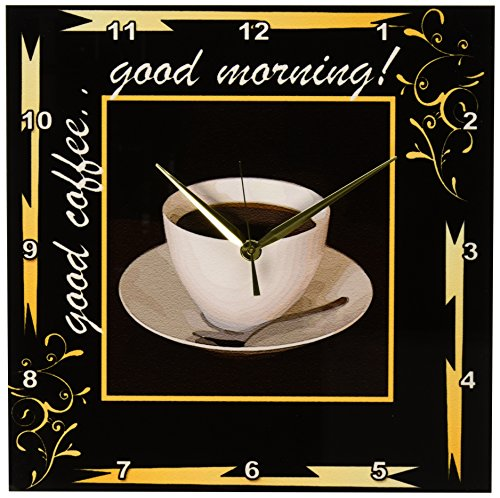 Good Coffee Good Morning Wall Clock