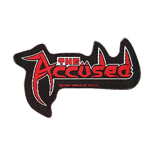 Small Woven Patch (The Accused Band Name Cutout Logo Patch Thrash Metal Music Woven Sew On Applique)