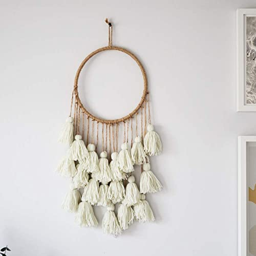 Macrame Wall Hanging for Boho Decor. Woven Wall Hanging is The Perfect Boho Wall Decor, Cream 10 x25