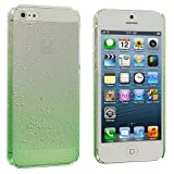 Neon Green Raindrop Crystal Hard Back Cover Case for Apple iPhone 5 5G 5th