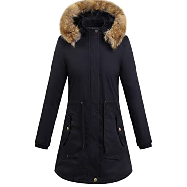 805124f30d8 Image Unavailable. Image not available for. Color  GONKOMA Clearance Women s  Winter Long Coat Warm Plus Size ...
