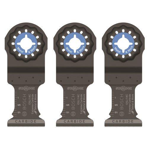 Bosch OSL114C-3 Starlock Carbide Plunge Cut Blade (3 Pack), 1-1/4