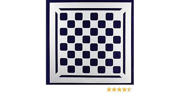Amazon.com: Chess/Checkerboard Stencil w/Border 14 Mil -15\