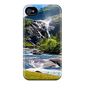 Premium Tpu Mountain Flow Cover Skin For Iphone 4/4s