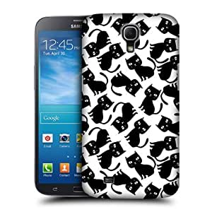 AIYAYA Samsung Case Designs Black Pattern Printed Cats Protective Snap-on Hard Back Case Cover for Samsung Galaxy Mega 6.3 I9200 I9205