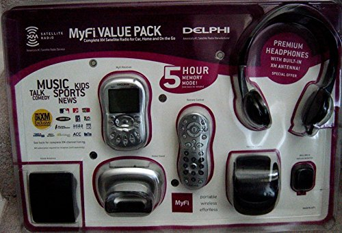 Delphi MyFi XM2GO Portable XM Satellite Radio Receiver Complete Package W/ Kits and More!