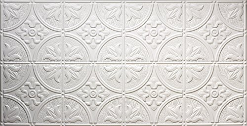 (Global Specialty Products 309W Traditional Tin Style Panels for Glue-Up Installation, Matte White)