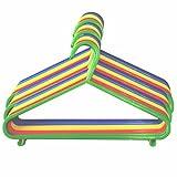 60 Children's Clothes Hangers Kids Coat Hanger Multi Coloured (190)
