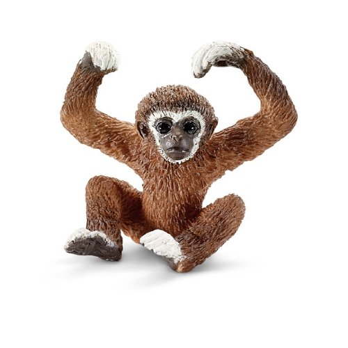 Schleich Gibbon Young Toy Figure - Gibbon Monkey