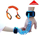 Dovewill 2Pack Toddlers Anti Lost Strap Wrist Link Safety Harness for Outdoor,Blue+Orange