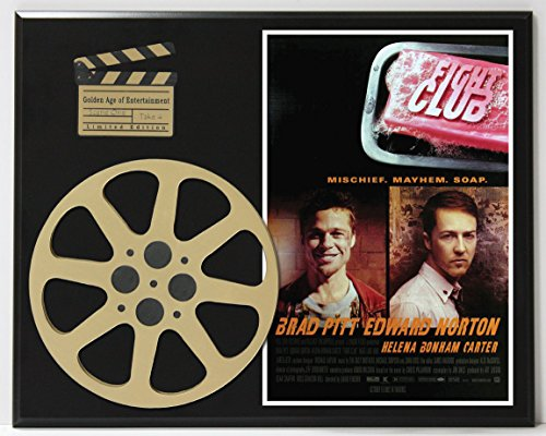 FIGHT CLUB BRAD PITT EDWARD NORTON LIMITED EDITION MOVIE REEL DISPLAY