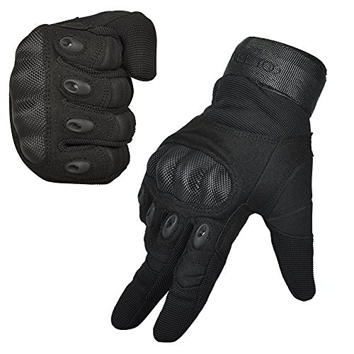 FREETOO® Mens Tactical Gloves Hard Knuckle Full Finger Adjustable Outdoor Sport/Fitness Black L (Motorcycle Gear For Women compare prices)