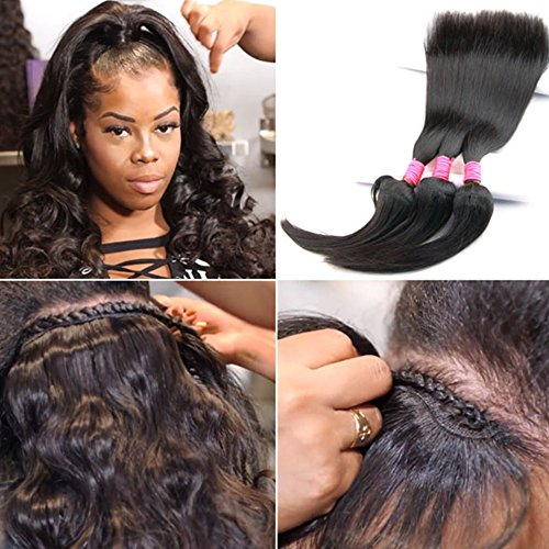 Braid In Bundles No Sew No Crochet No Glue Best Straight/ Body Wave Human Hair Weave (12 12 12 inch, Body Wave) Review