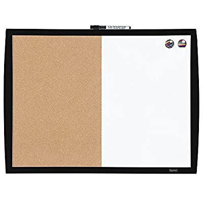 Quartet Magnetic Combination Board with Curved Frame