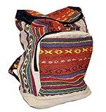 Brick Red Handmade Large Hemp Backpack, Laptop Backpack, Bohemia Backpack