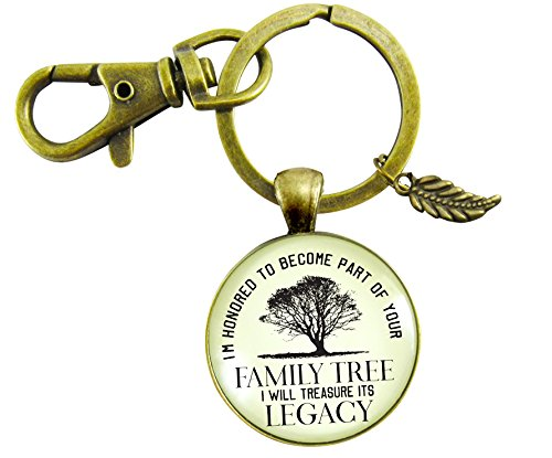 Father of The Bride Gift Keychain Honored Family Tree From Groom To Dad In Law Rustic Wedding Meaningful Key Chain