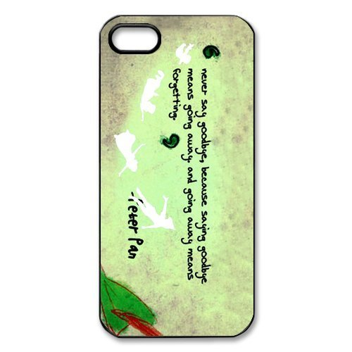 Fashion Peter Pan Apple Iphone 5S/5 Case Cover Personalized Quotes