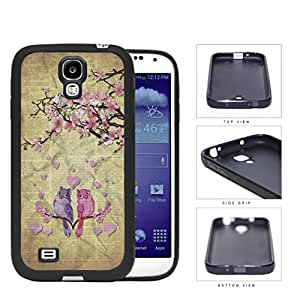 Cute Pink Love Birds With Cherry Blossom Tree Rubber Silicone TPU Cell Phone Case Samsung Galaxy S4 SIV I9500
