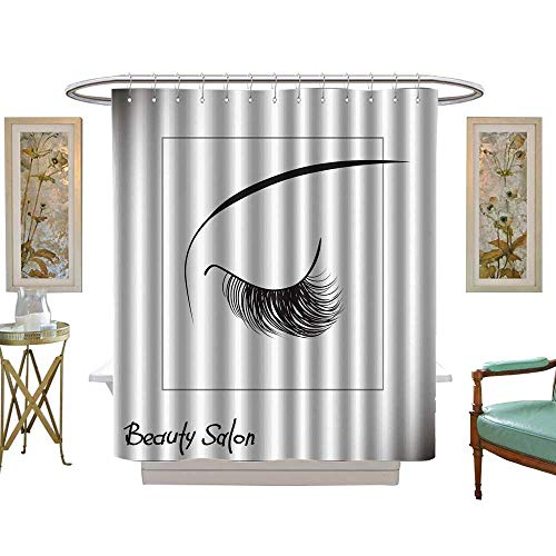 luvoluxhome Shower Curtain Collection by Closed Eyes with Long Eyelashes Sample Logo for a Beauty Salon Beauty Products W69 x L75 Custom Made Shower Curtain