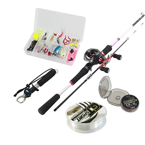 Himenlens A-01 Bait Casting Fishing Rod and Reel Combos 5ft with Line and Lure and Grip Combos,Right Hand