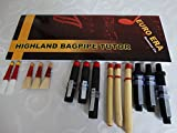 Scottish Bagpipe Drone and Reeds Set with Tutor Book