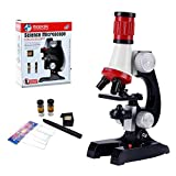 HONPHIER Microscope for Children Kids Microscope 100x 400x 1200x Magnification Microscope Kit with LED Kids Toys
