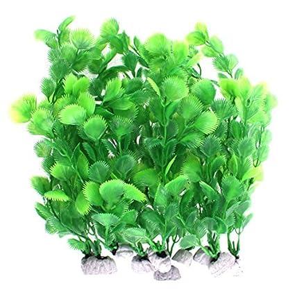 eDealMax plástico Artificial de agua de la planta Hierba DE 25 cm de altura 10pcs Verde