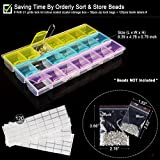 ADVcer 90pcs DIY 5D Diamond Painting Tools Kit, Complete Supplies Set with 1/3/6/9 Crystal Quick Drop Pen, 21 Grids Rhinestone Storage Box, Tweezers, Spoon, Tray, Glue, Lable Stickers, Zip Lock Bags