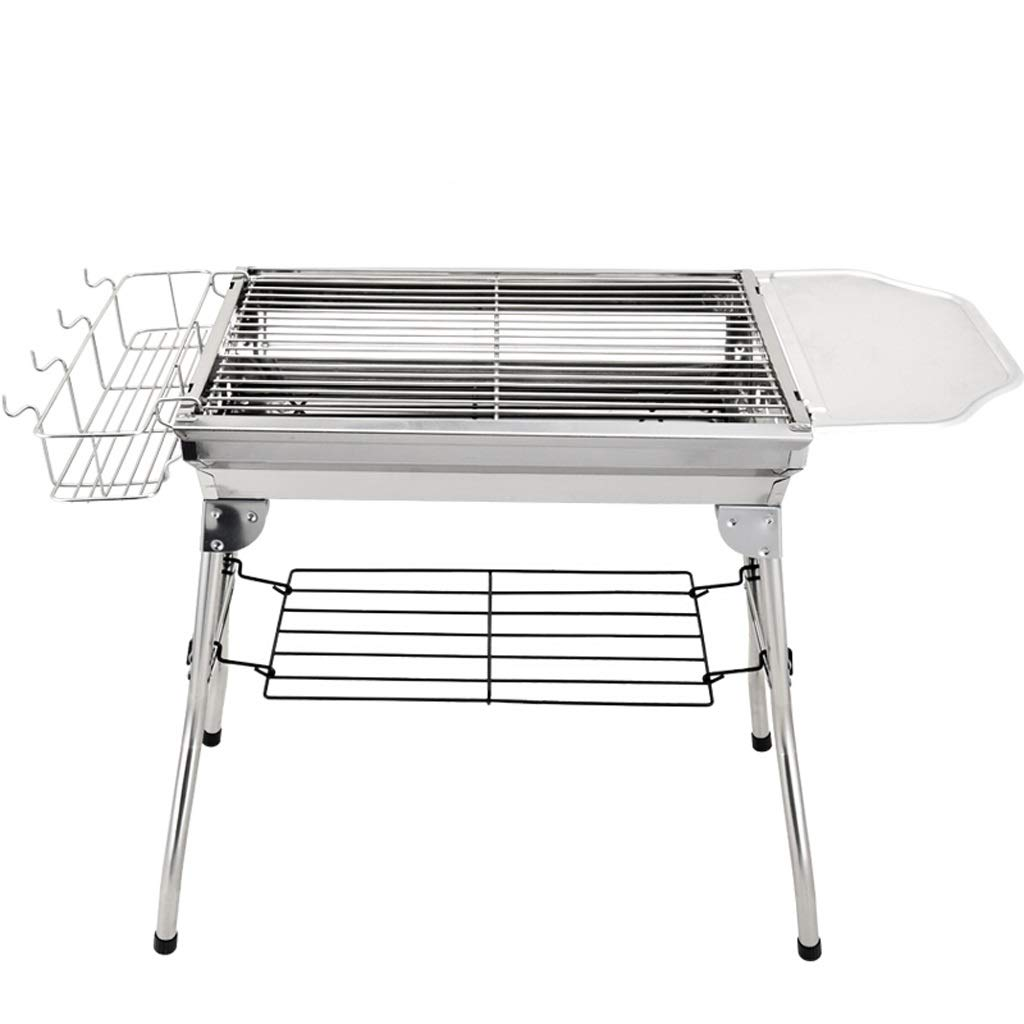 MEI XU Barbecue Grill BBQ Grill - Outdoor Barbecue Stainless Steel Household Barbecue Charcoal Barbecue Shelf Carbon Grilled Outdoor Barbecue Tool
