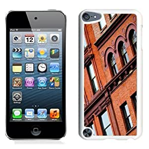 NEW Unique Custom Designed iPod Touch 5 Phone Case With Red Brick Building_White Phone Case Kimberly Kurzendoerfer