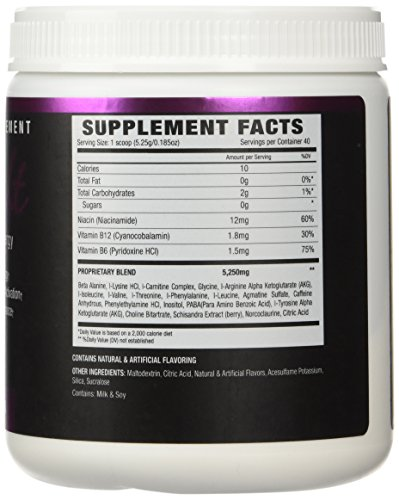 NLA For Her Uplift Pre Workout Supplement, Guava Passion, 40 Servings, 210 g