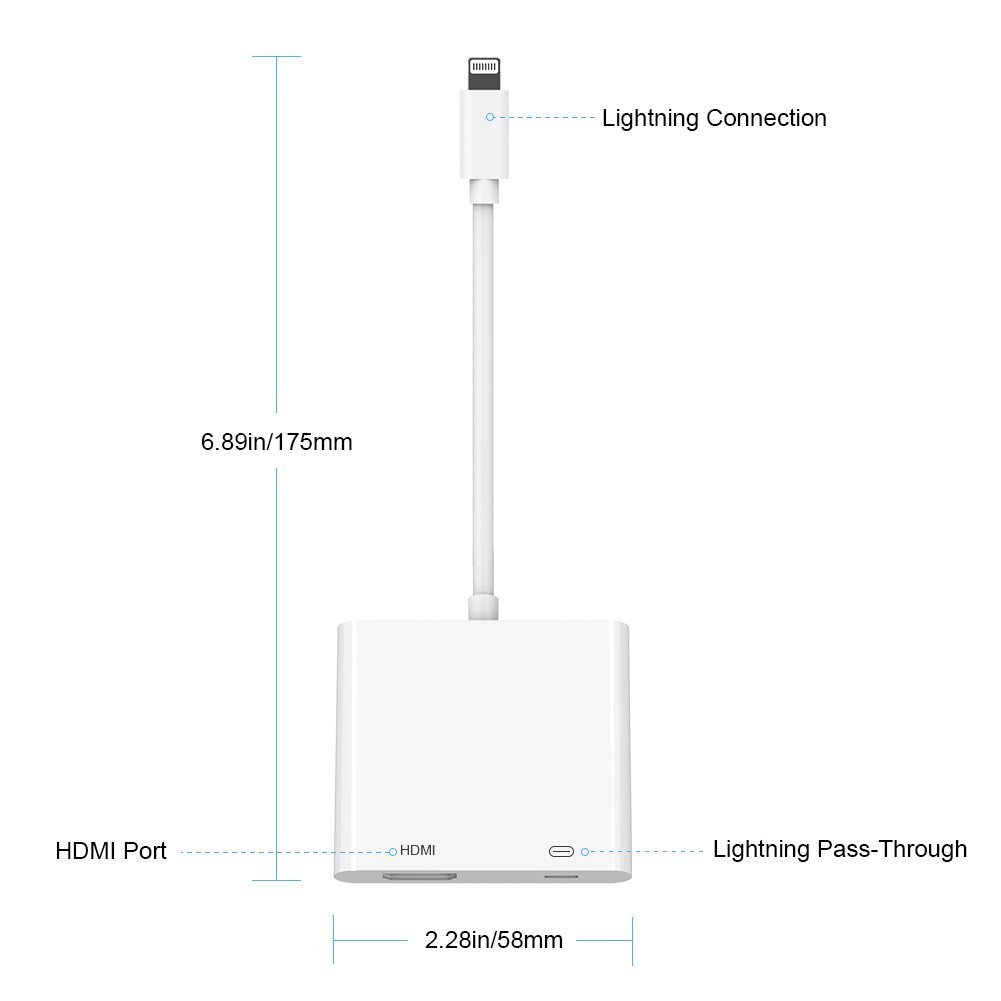 Lighting To Hdmi Adapter Digital Av With Iphone Ipod Charger Wiring Diagram Charging Port Compatible Ipad
