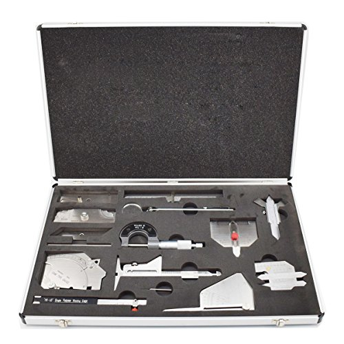 Welding Gauge Tool Kit Welding Measure Gauge Test Ulnar Welder Inspection 15pcs In One Box