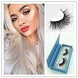 Mink 3D Lashes Dramatic Makeup High Quality Strip Lashes 100% Siberian Fur Fake Eyelashes Hand-made False Eyelash 1 Pair Package Miss Kiss (3D04)