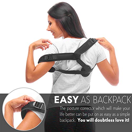 Back Posture Corrector for Women Men,Adjustable Upper Shoulder Brace Corrector,Clavicle Support Strap,Prevent Slouching and Relieve Pain Posture Straps by Anddegoo (Image #3)