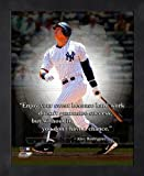 Alex Rodriguez New York Yankees Pro Quotes Framed 8x10 Photo