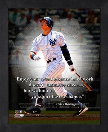 Alex Rodriguez New York Yankees Pro Quotes Framed 8x10 Photo ()
