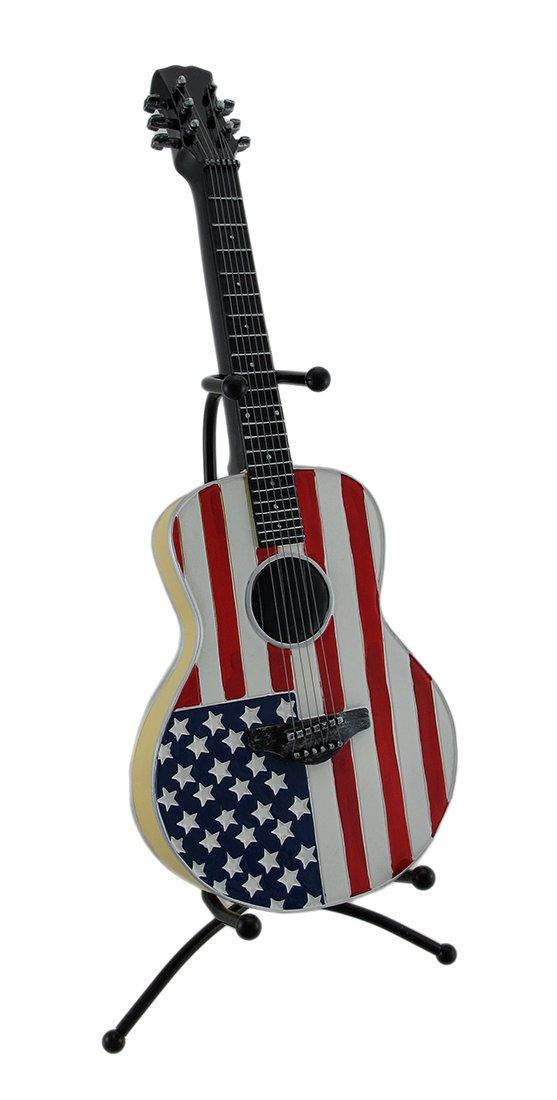 最も優遇の American Flag Guitar Metal Bank B00NVOU9U8 with Guitar Metal Stand B00NVOU9U8, ブリヂストン快眠ショップ:0674fd76 --- narvafouette.eu