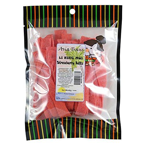 Li Hing Mui Strawberry Belts 11 oz