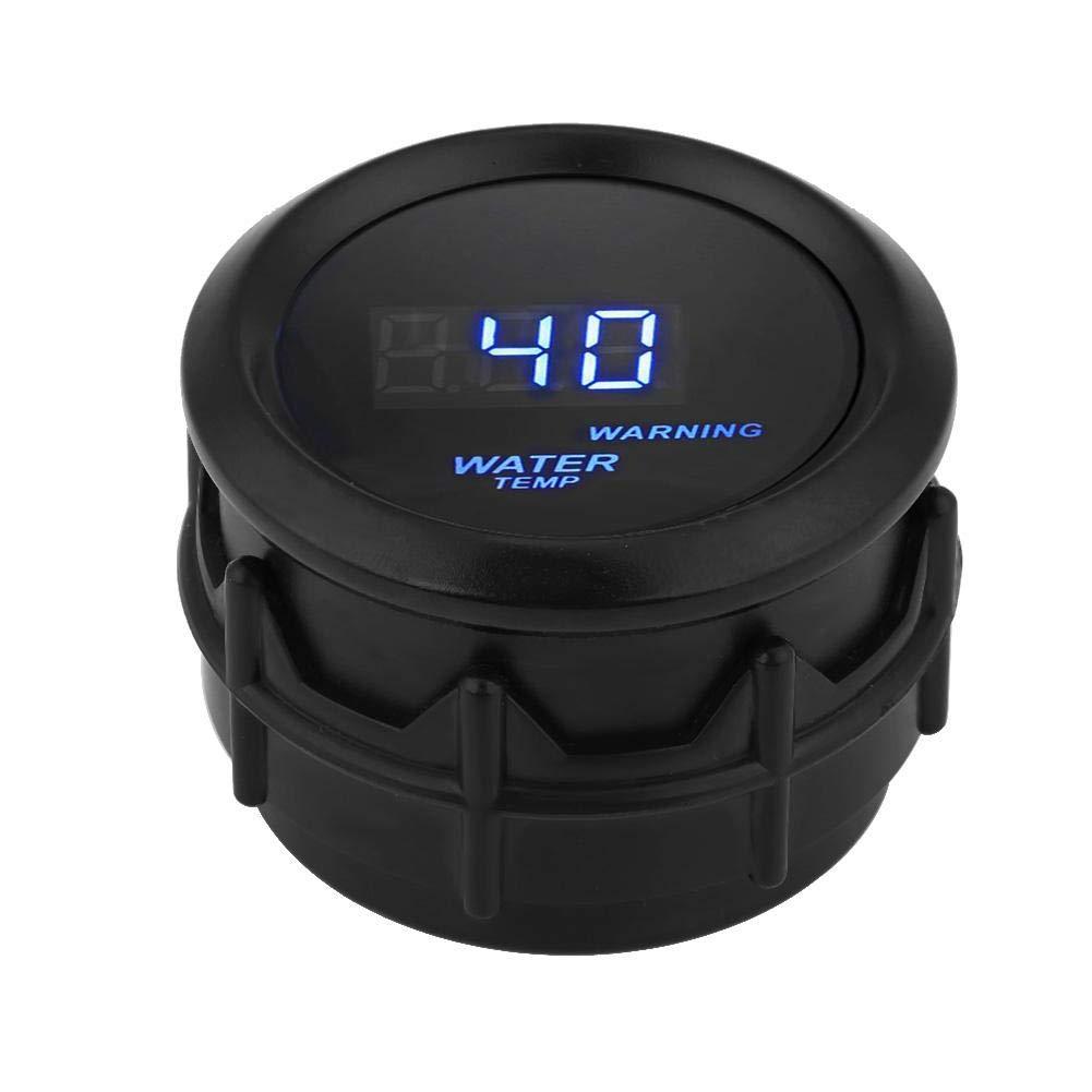 Blue Backlight 300 ℉ Water Temperature Gauge 2 Inch 52mm Car Blue LED Digital Water Temperature Fahrenheit Gauge Kit w//Sensor for Car /& Truck